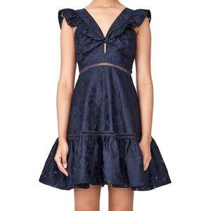 Rebecca Taylor Aly Fil Coupe Dress, sz 6